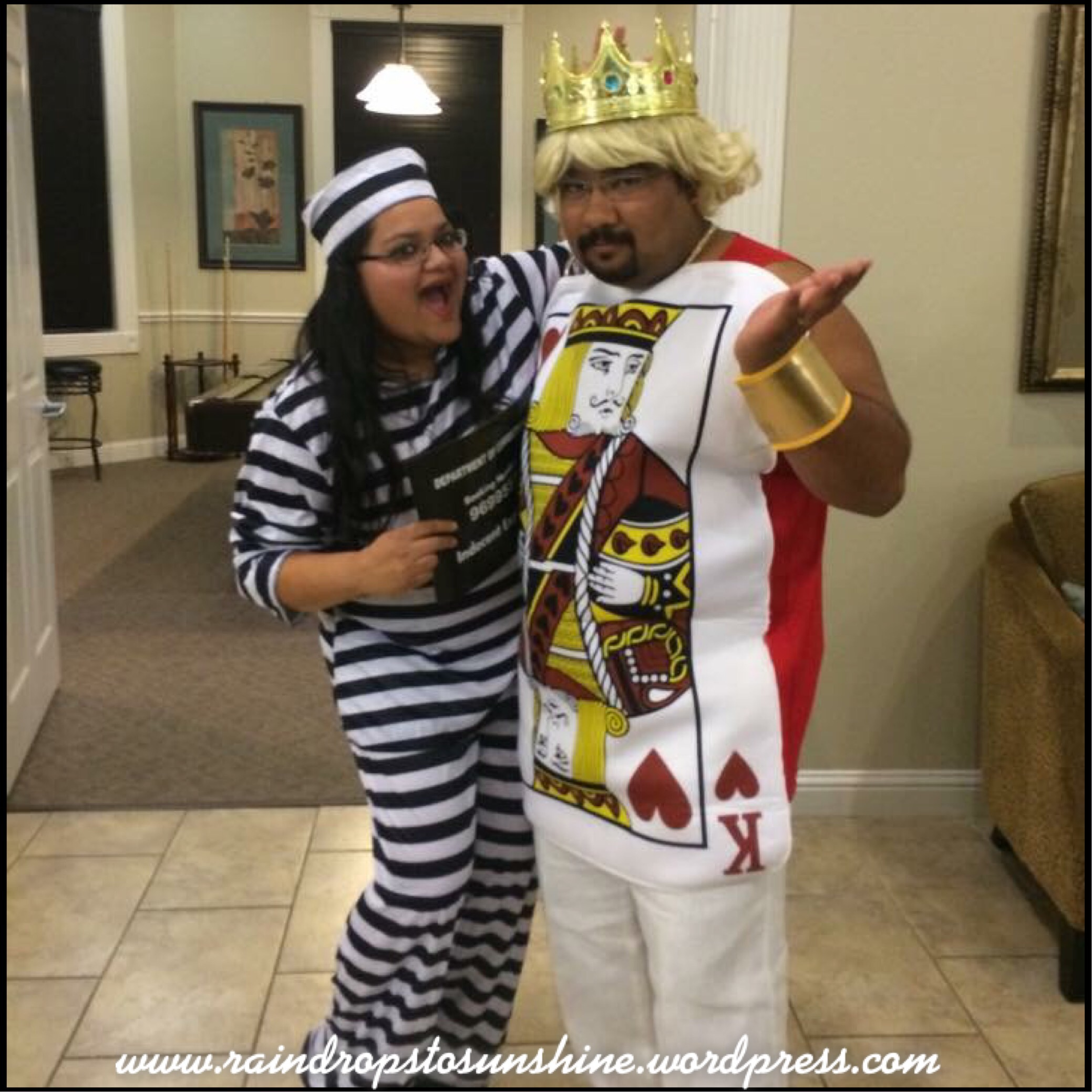Say hello to the King of Hearts and the Prisoner!! The king of hears costume won my hubby the best costume award!! Both our costumes were from Target.  sc 1 st  raindropstosunshine & Halloween costumes over the yearsu2026 | raindropstosunshine